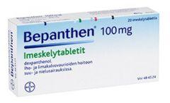 BEPANTHEN 100 mg imeskelytabl 20 fol